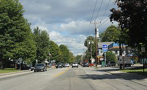 Conway (CDP), New Hampshire - Conway on NH 16