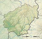 Corrèze department relief location map.jpg