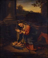 Correggio - La Vergine che adora il Bambino - Google Art Project.jpg