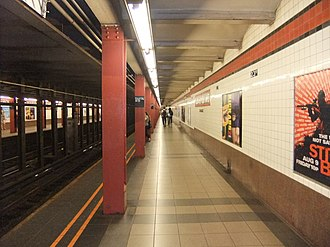 Court Square–23rd Street (New York City Subway) - The Forest Hills and Jamaica-bound platform in August 2013