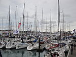 Cowes Yacht Haven during Cowes Week 2011 4.JPG