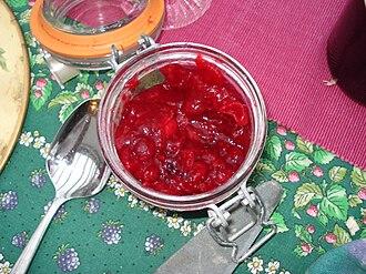 Cranberry sauce - Image: Cranberry sauce