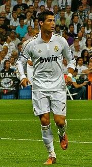 Cristiano Ronaldo con la maglia del Real Madrid nella stagione 2011-2012