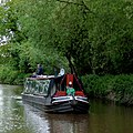 Cruising on the Llangollen Canal near Ravensmoor, Cheshire - geograph.org.uk - 1706808.jpg