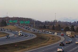 Interstate 390 - I-390 northbound near its interchange with I-590