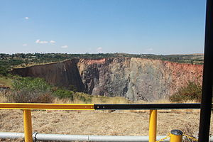 Cullinan, Gauteng - The pit from the open pit mining.