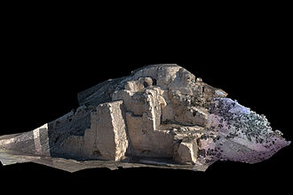 Merv - Photo-textured 3D laser scan image of Gäwürgala town walls