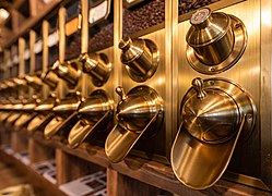 Dülmen, Privatrösterei Schröer, Kaffeebehälter -- 2018 -- 0529.jpg