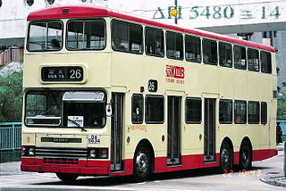 Dennis Dragon A three-axle step-entrance double-decker bus
