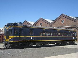 Diesel Electric railmotor (VR) - 58RM at Newport Workshops