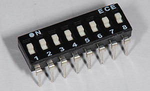 DIP switch - A slide-style DIP switch