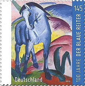 Der Blaue Reiter - 100th anniversary postage stamp, Germany (2012)