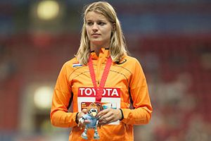 2013 World Championships in Athletics – Women's heptathlon - Bronze medalist Dafne Schippers from the Netherlands.