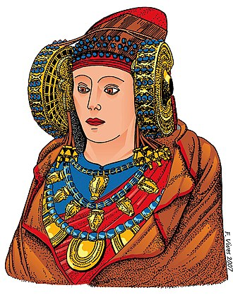 Lady of Elche - Color reconstruction by Francisco Vives
