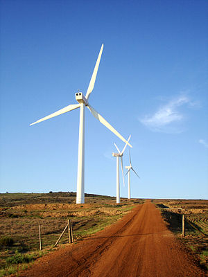 Renewable energy in Africa - Darling Wind Farm in South Africa