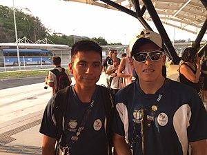 Ecuador at the 2016 Summer Paralympics - Darwin Castro and guide Sebastian Rosero