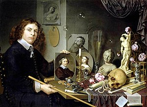 David Bailly - Self-Portrait with Vanitas Symbols, c. 1651