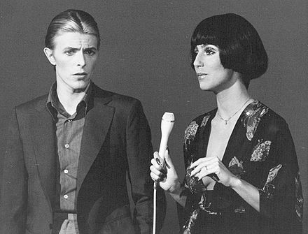Bowie performing with Cher on the variety show Cher, 1975 David Bowie and Cher 1975.JPG