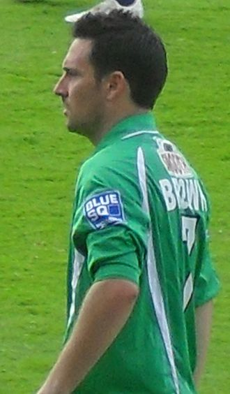 David Brown (footballer, born 1978) - Brown playing for Forest Green Rovers in 2009