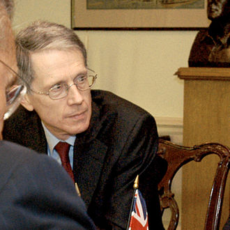 David Manning - Sir David Manning during an interview with Donald Rumsfeld and Jack Straw, on 9 May 2005.