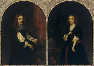 Pieter de Graeff - Portraits of Pieter de Graeff and Jacoba Bicker, painted in 1663 by Caspar Netscher, Rijksmuseum Amsterdam