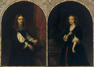 Pieter de Graeff - Portraits of Pieter de Graeff and Jacoba Bicker, painted in 1663 by Caspar Netscher, Rijksmuseum Amsterdam