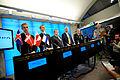 De nordiska utrikesministrarna pa pressmote under Nordiska radets session i Stockholm 2009.jpg