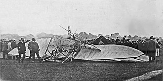 Charles Rolls - Photograph on the front page of the Illustrated London News, 16 July 1910, showing the wreckage of the plane crash which killed Rolls