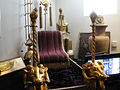 """Debbie Reynolds Auction - Cleopatras Throne used during the arrival of Marc Anthony from """"Cleopatra"""" (1963) (5851596517) (2).jpg"""