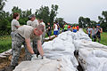 Defense.gov News Photo 110610-A-TP698-005 - U.S. Air Force airmen with the Missouri National Guard s 139th Airlift Wing stack sandbags on a levee near Rosecrans Memorial Airport in.jpg