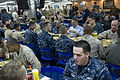Defense.gov News Photo 120330-D-BW835-369 - Secretary of Defense Leon E. Panetta has lunch with sailors and Marines on board the USS Peleliu LHA 5 in the Pacific Ocean off the coast of San.jpg