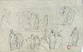 Dehodencq A. - Pencil - Feuille d'étude préparatoire à un tableau - 20.4x31cm.jpg