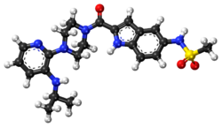 Delavirdine ball-and-stick model.png