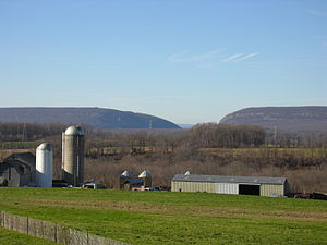 Knowlton Township, New Jersey - Knowlton Township's rural character is evident in this view of the Delaware Water Gap from Linaberry Road.