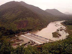 Champavathi River - Denkada Barrage on champavathi river at Saripalli in Vizianagaram District