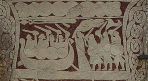 Detail from the Stora Hammars I stone, image stone on Gotland.png