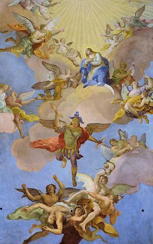 Detail of Glory of Virgin Mary by Daniel Gran - Annakirche.jpg