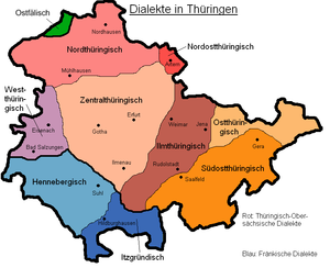 Thuringian dialect - Dialects in Thuringia