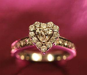 Diamond ring (photo credit Wikipedia)