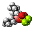 Dibutylboron triflate 3D spacefill.png