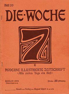 <i>Die Woche</i> periodical literature