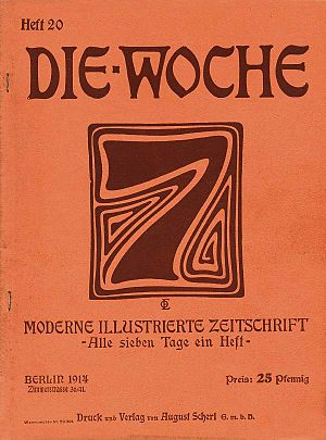 Die Woche - Front page of issue 20, 1914.
