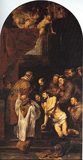Die letzte Kommunion des hl. Franziskus von Assisi, um 1619 (Quelle: Wikimedia)