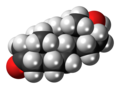 Dihydrotestosterone molecule spacefill.png