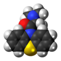 Dimethylaminopropionylphenothiazine 3D spacefill.png
