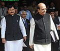 Dinesh Trivedi leaving Rail Bhawan for Parliament House to present the Railway Budget 2012-13, in New Delhi on March 14, 2012. The Minister of State for Railways, Shri Bharatsinh Solanki is also seen.jpg