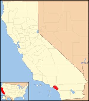 Roman Catholic Diocese of Orange - Image: Diocese of Orange map