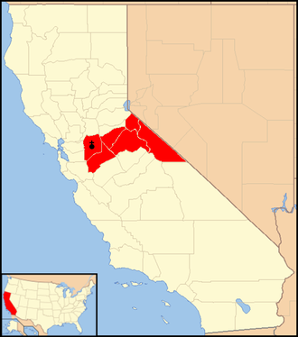 Roman Catholic Diocese of Stockton - Image: Diocese of Stockton map 1