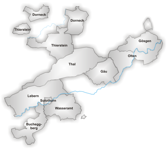 Canton of Solothurn - Districts of Canton Solothurn