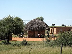 Dithakong - A hut in Dithakong